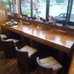 レストラン 最高地点 - 店内の窓からは八ヶ岳を眺めることができます