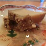 日本料理 たかむら - 男鹿椿漁港から800g越えのクロアワビ。味が凝縮してうまい。