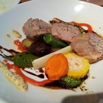 トラットリアヴィアーレ - 豚肉と野菜のグリル 1220yen