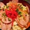 花道 - 料理写真:ソーセージ・チーズもち玉天