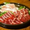 我武者羅 - 料理写真:鶏の刺身三点盛(950円)ささみ、砂肝、ハツ