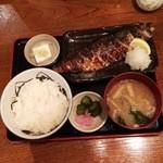ねこや - サバ塩焼き定食780円