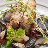 Restaurant AKIOKA - 料理写真:留萌の骨付きヒラメ
