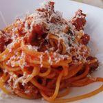 29374298 - スパゲッティサルシッチャと大和丸ナスのトマトソース