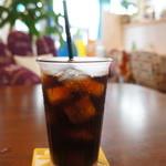 ドットカフェ - チョイスしたドリンクは、アイスコーヒーです
