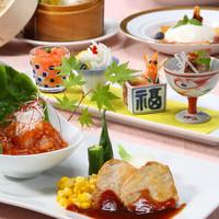 中国料理 龍皇 - 「食べて美しく」をテーマにした月替わりの料理と飲茶を楽しめるレディースランチ
