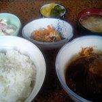 あおい食堂 - さば味噌煮定食