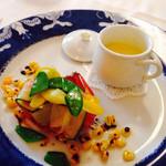29401206 -  夏野菜のグリエ & とうもろこしのスープ 2014.7