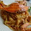 デルソーレ - 料理写真:渡りガニのオーロラソーススパゲティ 自家製生パスタ タリアテッレ
