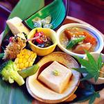 ほうらんや - 里山御膳(1200円)のお惣菜盛り合わせ