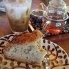 郷里 - 料理写真:くるみケーキとハーブティーとアイスコーヒー
