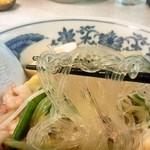 中華麺処 らん蘭 - 太平燕(タイピーエン 750円)の麺リフト