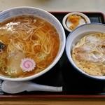 清水屋 - カツ丼セット950円