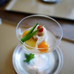 dining HARIMAYA - 先附 冷やし野菜 炊き合わせ