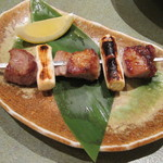 味楽座 - 「アグー豚の串焼き」です。