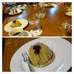 グランカフェ - ケーキセットのケーキ。写真は「モンブラン」