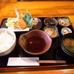 和顔施 - ぷりっとさくっと海老たちの天ぷら御膳850円