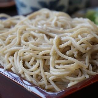 そば屋 長森 - 料理写真:750えん『十割そば』650えん『天ぷら盛り合せ』2014.8