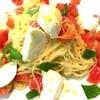 ラ・ポルタ・フェリーチェ - 料理写真:水牛のモッツァレラとフレッシュトマトの冷製カッペリーニ