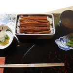 祇園 岩元 - 岩元五周年記念セット(昼限定)「京あなご重」2000円(税別)〜全体写真
