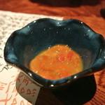 燈弥 - 紅ホヤとコノワタの塩辛