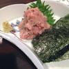 清水家 錦 - 料理写真:マグロねぎ味噌たたき!海苔を巻いて食べると美味しい‼︎