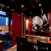 こなもの屋剛田 - 内観写真:江戸の遊郭をイメージして彩られています