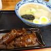 函館朝市 味の一番 - 料理写真:塩ラーメンと烏賊めしセット(1,150円)