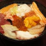 若狭家 - 豪華12種類盛り オールスター丼 1750円