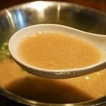らーめん 極 - ミニラーメン(白とんこつ)スープ