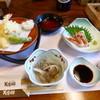 美濃の郷 - 料理写真:2014.09 天ぷら釜飯セット(1450円)
