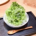 はんしょうcafe - かき氷(本物志向・抹茶)800円