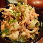 串揚げ&さしみ さしあげ亭 - 白海老かき揚げ丼(お新香・味噌汁付き)