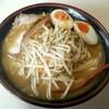 らーめん紅釜 - 料理写真:本日(もう昨日か)の一日一麺は、珍しく味噌味玉ラーメン。麺はゴン太♡