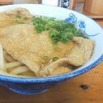 本場かなくま餅 福田 - 全体的に薄味のきつねうどんでした。