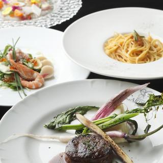 大満足のプリフィクスコース、選ぶのも楽しいとっておきディナー