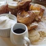 cafe shibaken - 15時からのフレンチトースト(現在はパンケーキに変更)