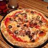 CASBA - 料理写真:黒オリーブが美味しいピザ
