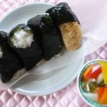 はやま川平   - 料理写真:今回購入の4種とピクルス