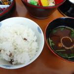 29765465 - 大豆ご飯と赤出汁