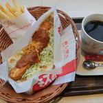 モスカフェ - ナンチキンカレー340円、ポテトSセット460円