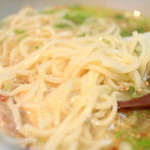 とりそば太田 - 塩とりそばの麺。'14 7月下旬