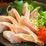 まるさん松本 - のどぐろ定食(のどぐろお造り)