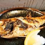 まるさん松本 - のどぐろ定食(のどぐろ塩焼き)