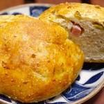 満 - ベーコンとオリーブのパン