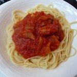バーンズ・キッチン - 本日のランチ \1,500のスパゲティ(ベーコンとアスパラのトマトソース)