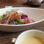 ソガベ西条西洋料理 - 前菜(ローストビーフのサラダ)