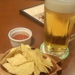 マハロア - 生ビール+お通し(無料)