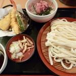 久兵衛屋 - 天もりうどんミニまぐろたたき丼定食(890円)