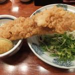 神田 本陣房 - 日替わりまかない丼(穴子天丼)と蕎麦